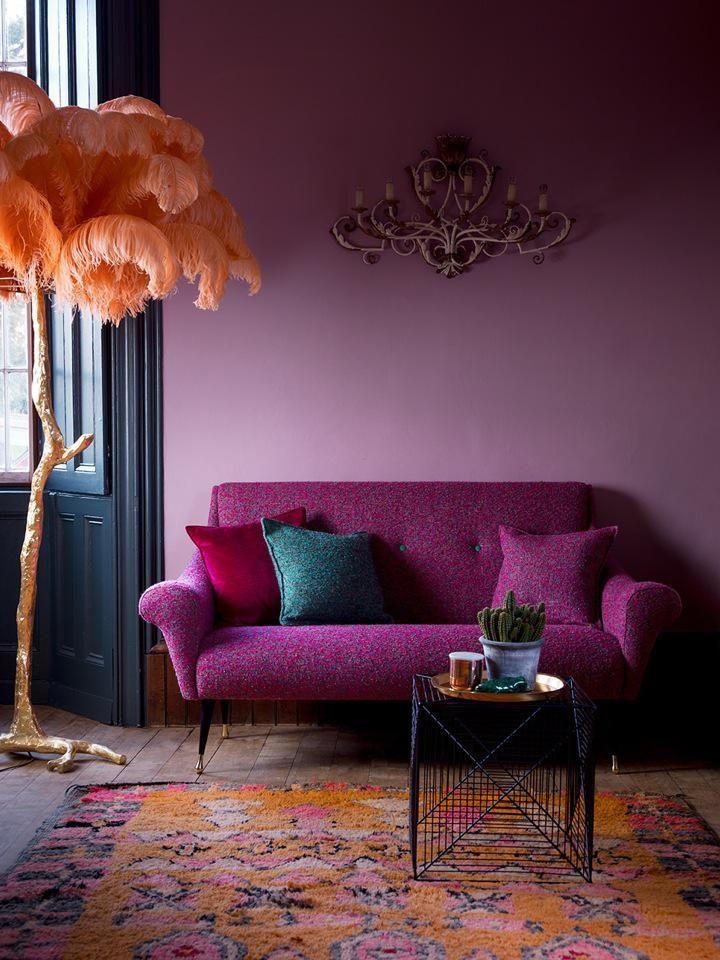 Eine Lila Wand Ist Alles Andere Als Der Letzte Versuch! Gestaltungstipps  Für Den Gekonnten Umgang Mit Einer Unterschätzen Und Nuancenreichen Farbe.