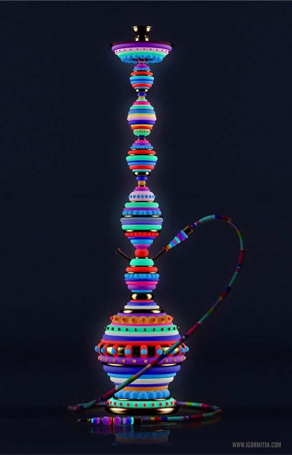 Fluorescent Hookahs Igor Mitin Products Gadgets Narguile