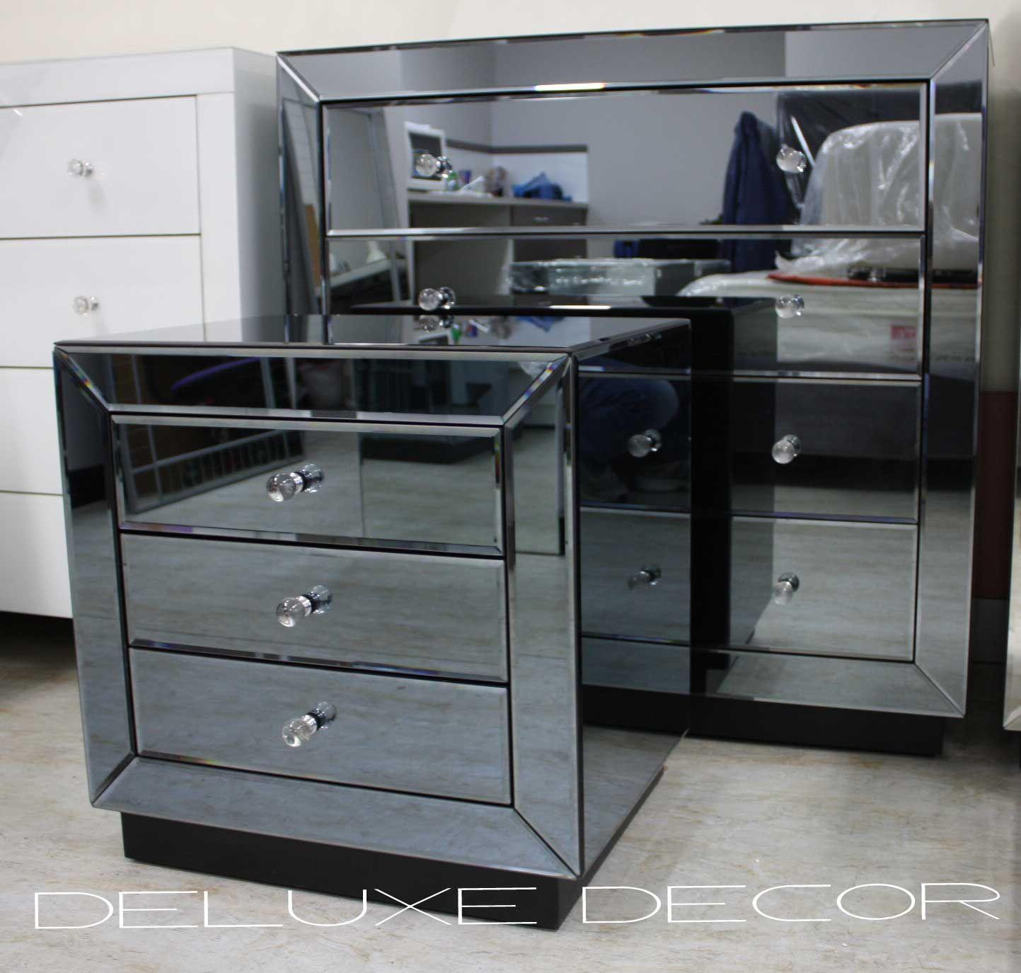 Wondrous Mirrored Bedroom Furniture With Elegant Interior Gold Dresser Silver