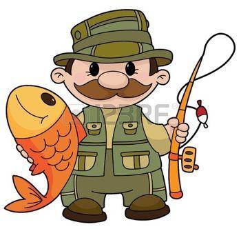 Cartoon Fishing An Illustration Of A Fisherman Illustration Detskie Kartiny Illyustracii Rybalka