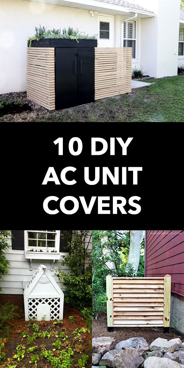10 Cheap And Easy Diy Ac Unit Covers In 2020 Ac Unit Cover Diy