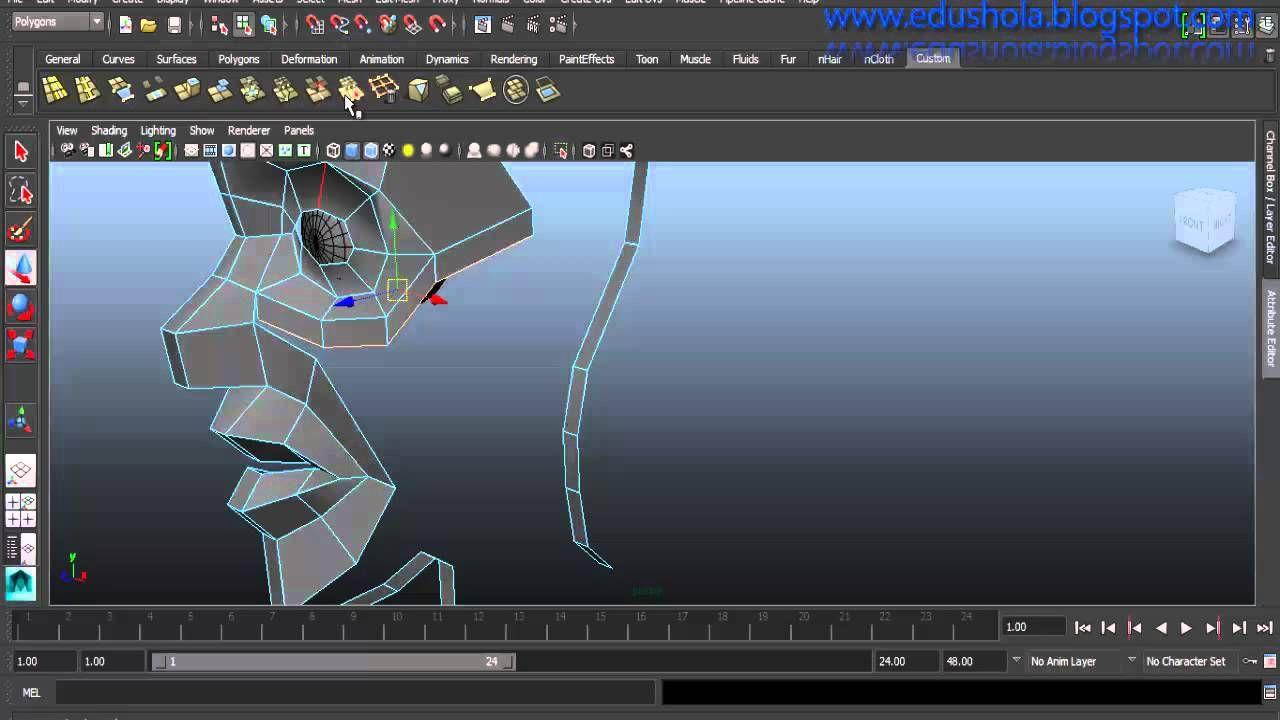 Autodesk Maya Tutorial - Modeling a stylized character (easy