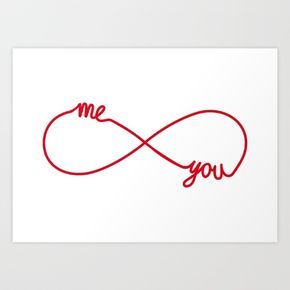 You And Me Together Forever Infinity Sign Infinite Symbol Never