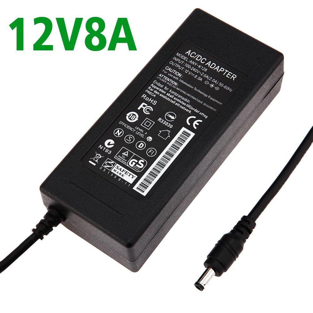 Dc 12v 8a Ac 100 240v 12v8a Led Light Power Adapter Led Power Supply Adapter Drive For Rgb Led Strip 5050 3528 2835 Power Adapter Led Power Supply Power Supply