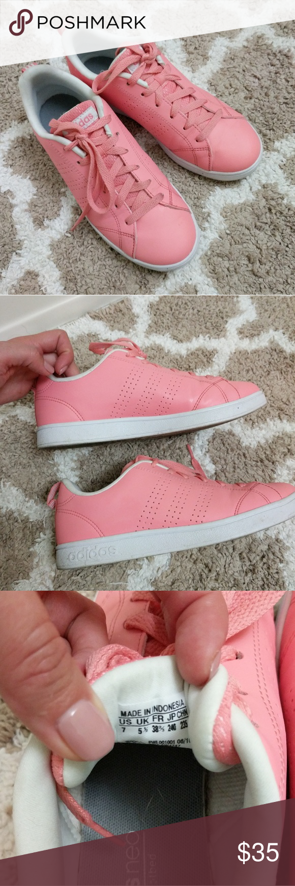 big sale 361a0 2ebc1 Adidas Neo sneakers Adidas Neo Ray Pink sneakers - bright pink - size 7 -  comfort