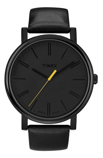 a98db115e86 Timex®  Easy Reader  Leather Strap Watch
