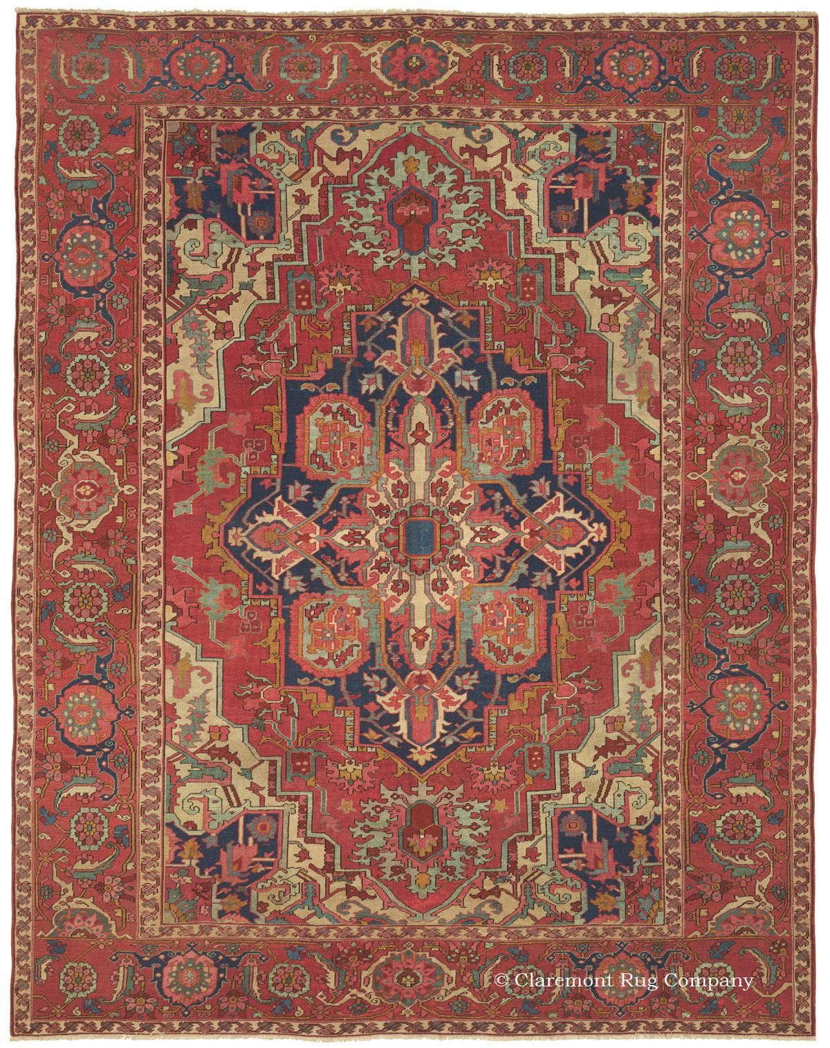Antique Serapi Rugs And Carpets From Northwest Persia Rugs On Carpet Antique Persian Rug Antique Oriental Rugs
