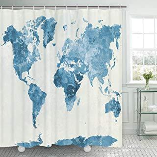 Amazon Com Cheap Blue Shower Curtain Curtains Blue Shower