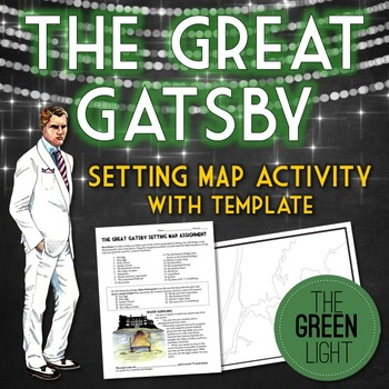 The Great Gatsby Setting Map Assignment - Includes Template! | High ...
