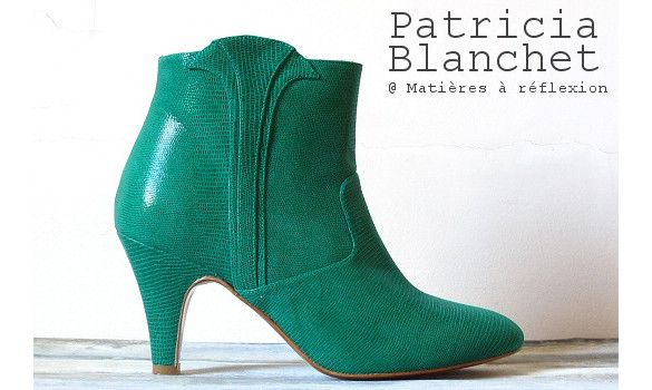 d42b99ab913ee Patricia Blanchet ankle boots Reno verte  patriciablanchet  boots  vert   green  lowboots  cuir  serpent  reno  bottines  chaussures  shoes  ss15
