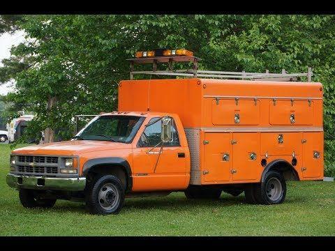 1998 Gmc 3500 Utility Body Truck 4x4 6 5l Turbo Diesel Commercial Vehicle Turbo Gmc