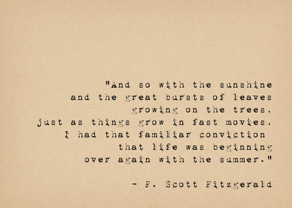 F Scott Fitzgerald Quote Book Lover Art Literary Art