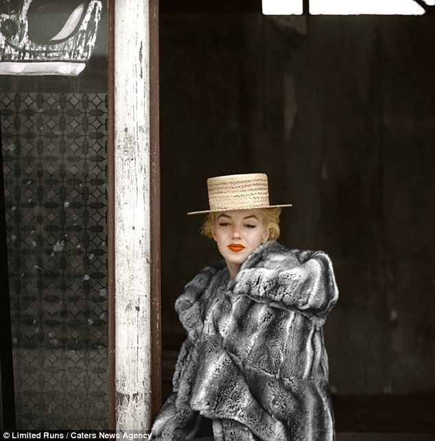 Waiting for someone: This image by Milton Greene was taken in April 1956 during filming for Bus Stop