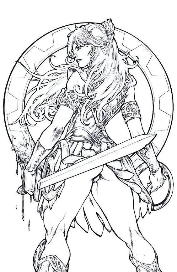 Xena Warrior Princess Coloring Pages Taken