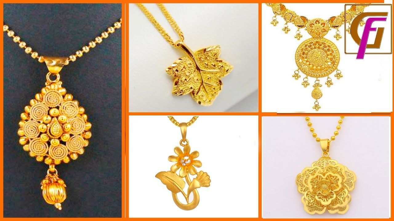 d42a3dbfc22 🔥Latest Light Weight Gold Pendent Designs 2018 ।। Chain Lockets and Mang.