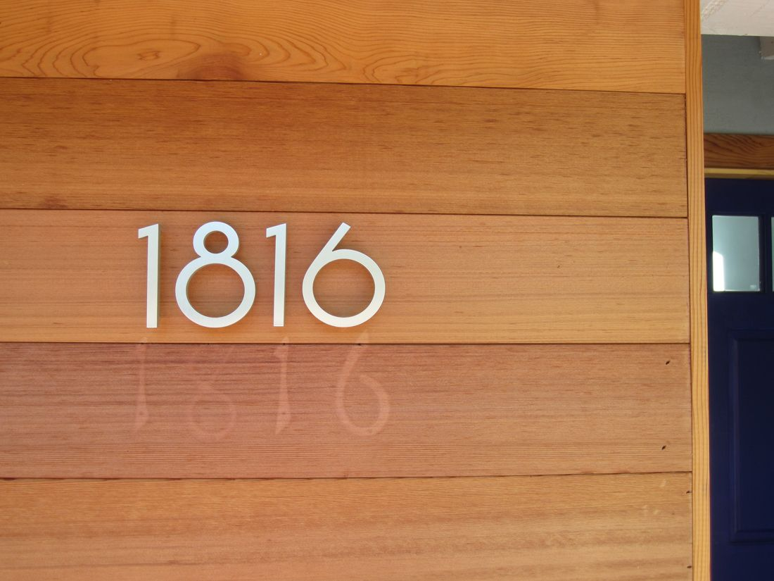 contemporary modern house numbers fairesta Pinterest