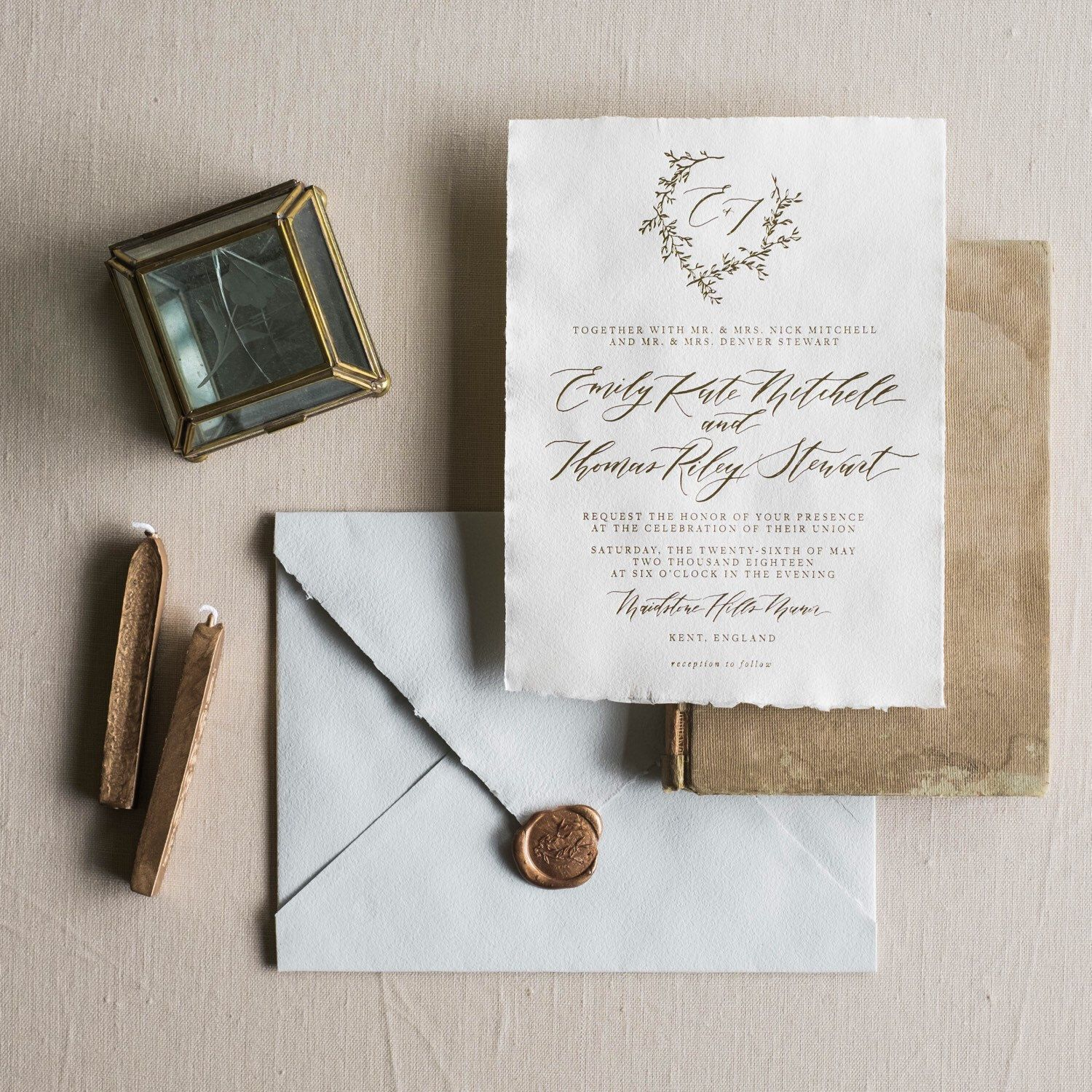 Looking for an elegant and simple calligraphy invitations for your ...