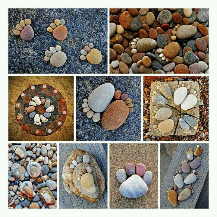 Rock Art...  Could we do this?  Begin collecting river stones early on . . . .