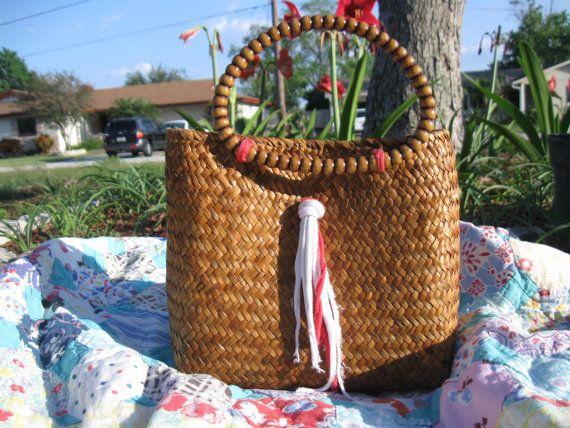 Basket Handbag by UpscaleUpcycle on Etsy, $45.00