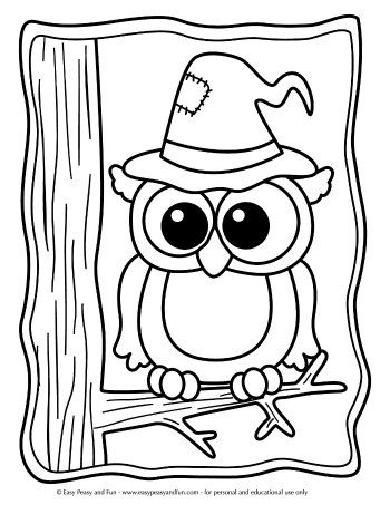 Halloween Coloring Pages | Owl coloring pages, Halloween ...