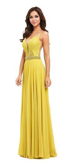 Vestido longo amarelo bh