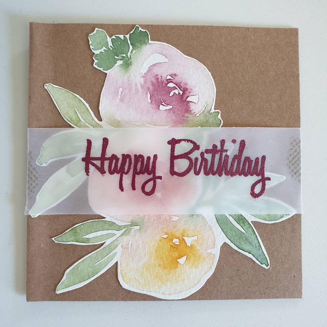 Florale Geburtstagskarte Niciscreativecorner Embossing