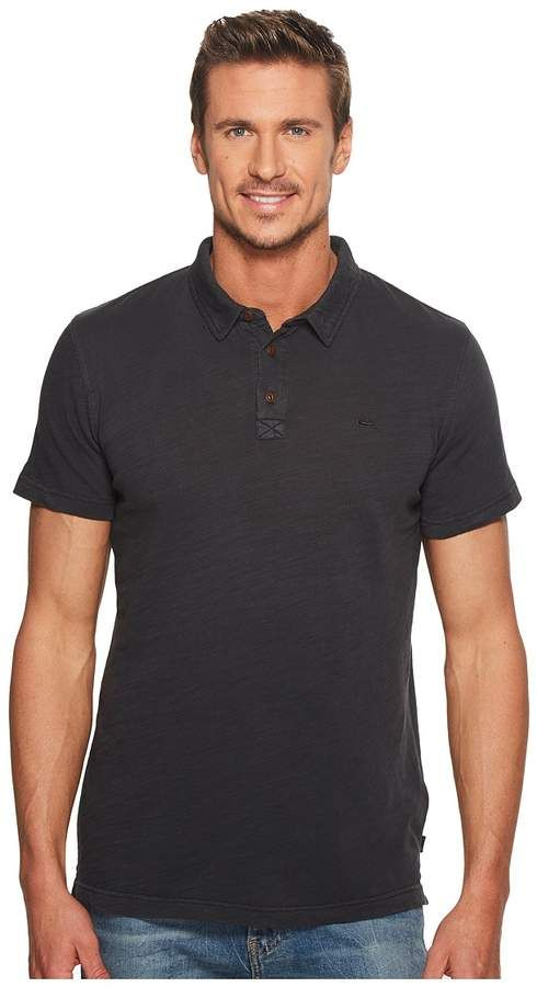 88672d3bc0 Quiksilver New Everyday Sun Cruise Polo Men s Short Sleeve Knit ...