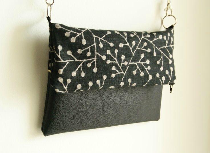 Le sac bi mati re tuto tutos sacs pochettes pochons trousses pinterest le sac - Tuto sac bandouliere avec rabat ...