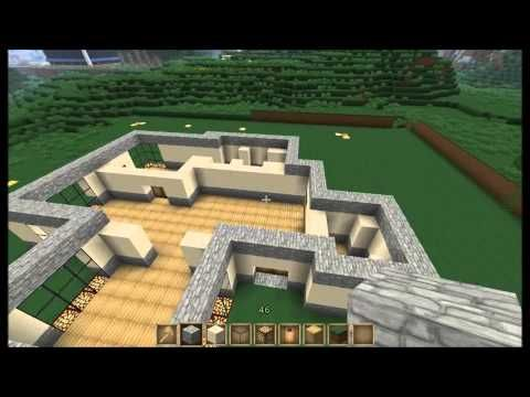 Minecraft Survival Part 1 Of The House Is Done