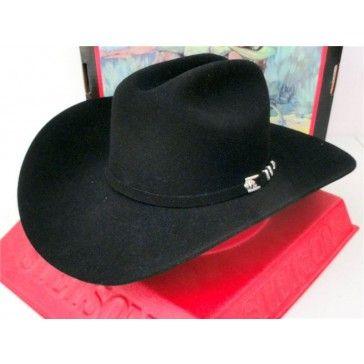 Stetson Cowboy Hat 4X Buffalo Fur Felt Black Apache  07c18f8b48e