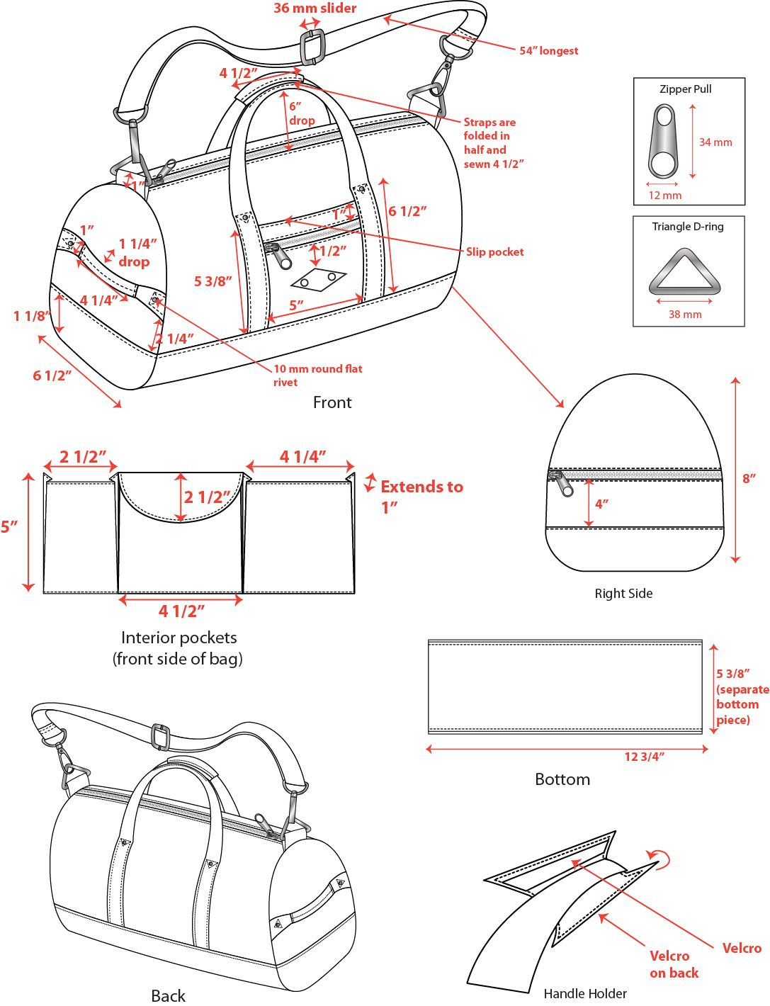 CADs of bags and wallets that were put into production | bags ...