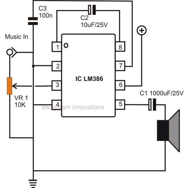 simple low power audio amplifier circuit diagram using ic Simple Transistor Audio Amplifier Circuit 5000W Audio Power Amplifier Circuit