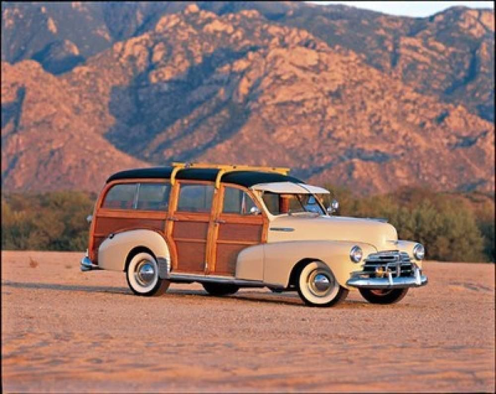 Chevrolet woody wagon 1948 40s 50s american cars loving the wooden roof rack