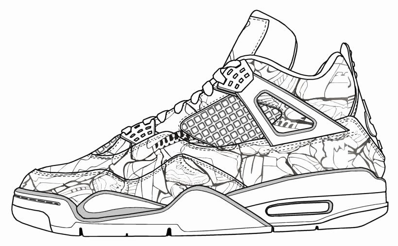 Jordan Shoe Coloring Book Inspirational Jordan Shoes Coloring Pages Coloring Home Jordans Sneakers Illustration Air Jordans