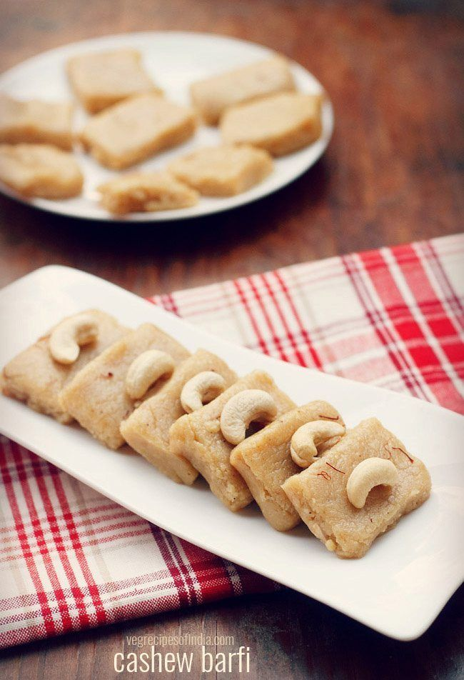 Kaju Barfi Recipe With Step By Step Photos Kaju Barfi Prepared With Cashews Khoya Evaporated Mil Sweets Recipes Coconut Barfi Recipe Evaporated Milk Recipes