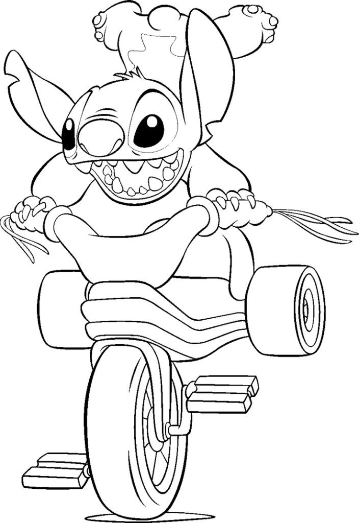 Printable Cute Stitch Coloring Pages