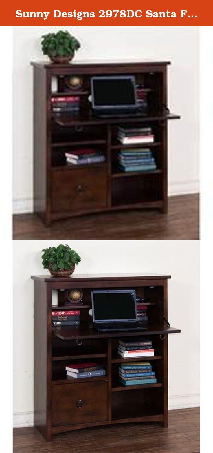 Sunny Designs 2978DC Santa Fe Laptop Desk Armoire Founded In 1980 Office DesksHome