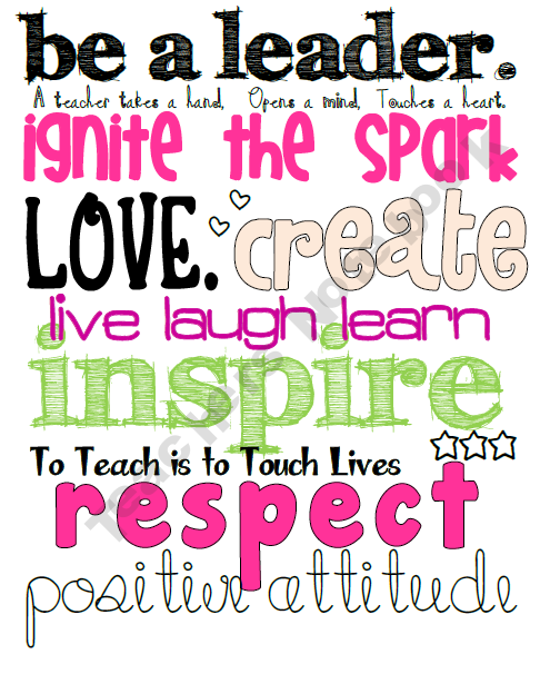 Teacher Appreciation Subway Art Gift | Jobs what you want to be