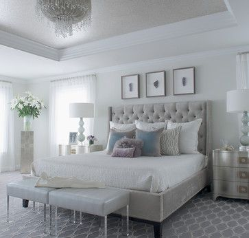 Modern Glam Transitional Bedroom Master Bedrooms Decor Elegant