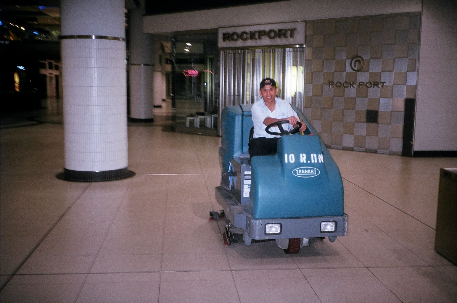 A Rideable Floor Buffing Machine. This Is The Forerunner To The The  Cleaning Bots At