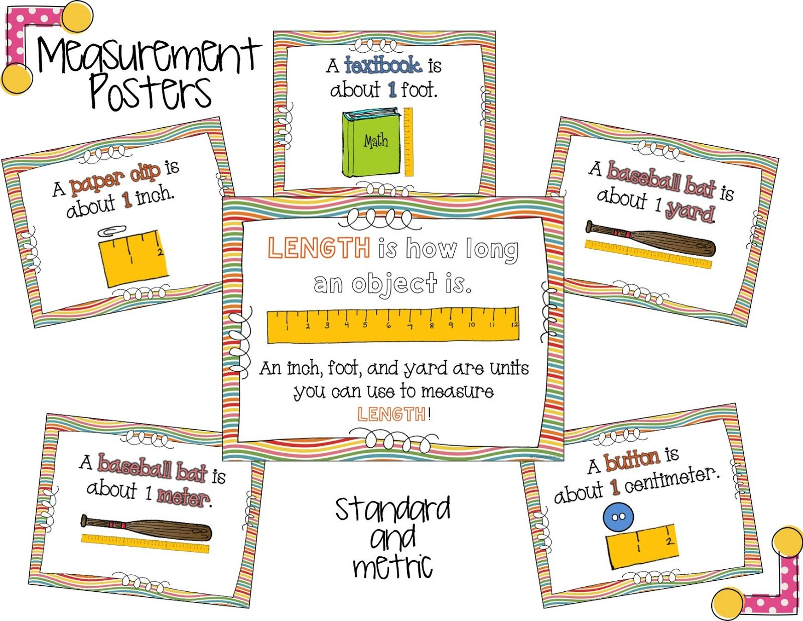 Measurement Posters Mrs Prince Amp Co