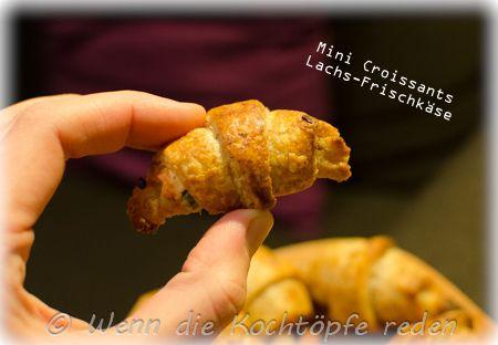 Weihnachts-Spezial : mini Lachs-Croissants zum Apéritif – Wenn die Kochtöpfe reden