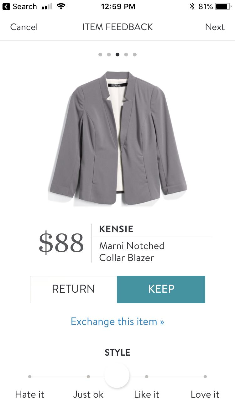 1e644029f48a Kensie Marni Notched Collar Blazer Marni, Fall 2018, Stitch Fix, Blazers,  Blazer