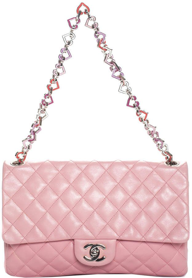 bb9591a62c780e Chanel Limited Edition Pink Quilted Lambskin Leather Medium Valentine Heart  Flap Bag, Never Carried