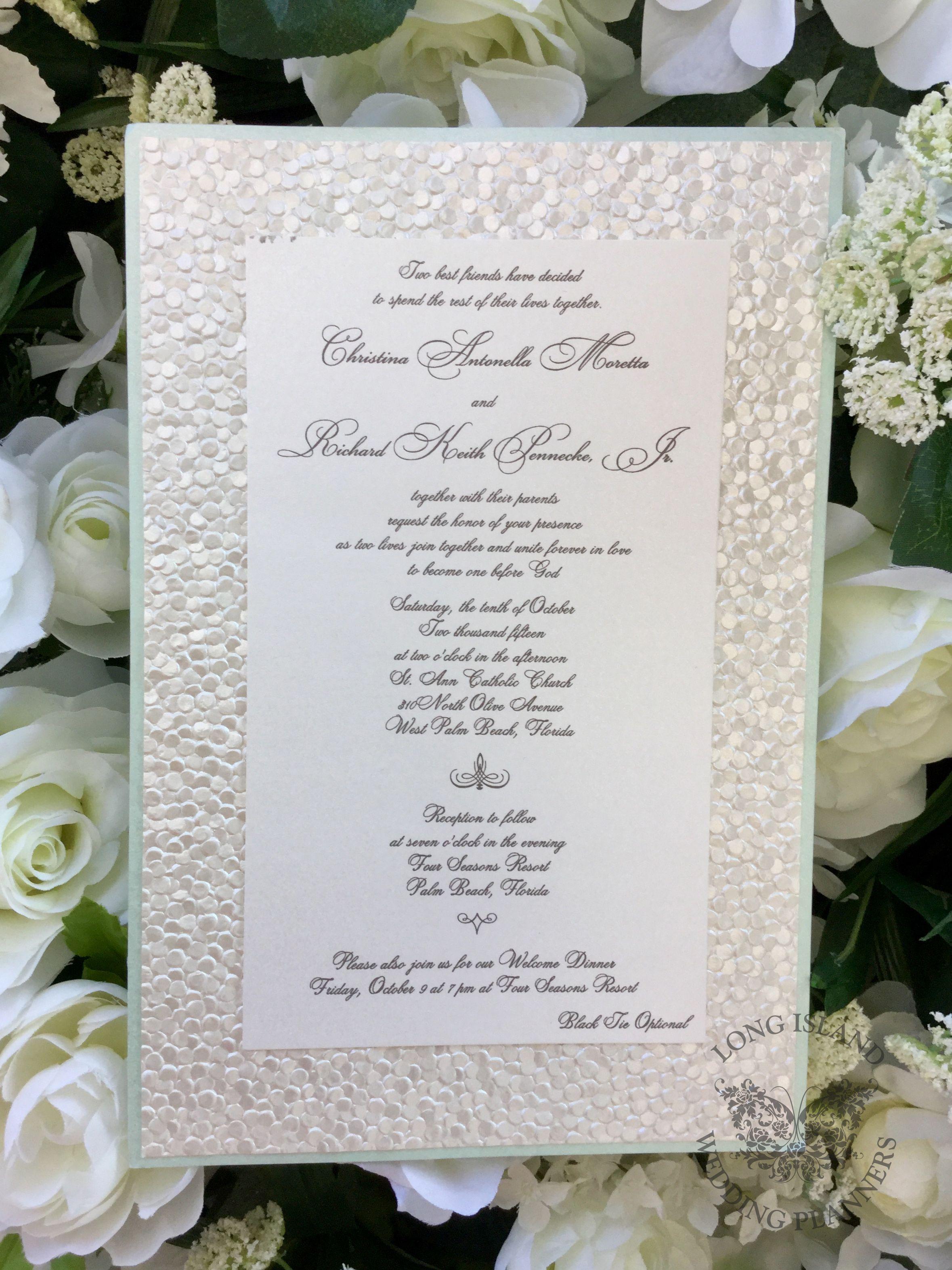 Long Island Ny Wedding Invitation Wedding Invitations Long Island Wedding Custom Wedding Invitations