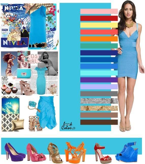 Como combinar un vestido color azul aqua