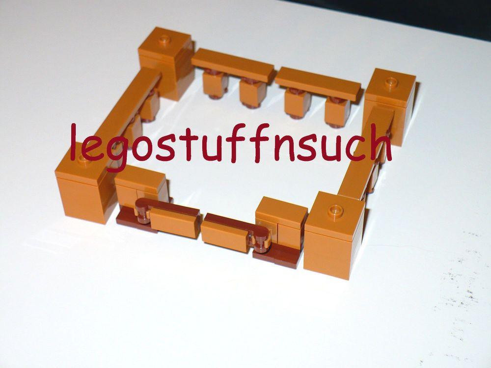 fence gate minecraft. NEW LEGO® MINECRAFT Pen Wood Fence Rail Gate Animal Farm Tan Post Crafting 21114 # Minecraft C