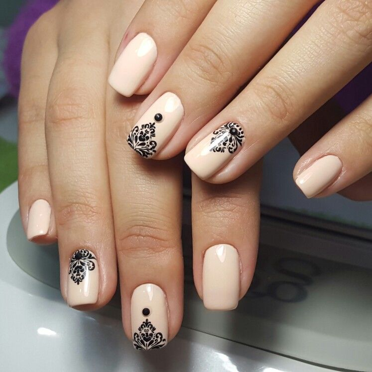 Moyou stamp with nude gel polish | Νύχια | Pinterest | Nude, Nail ...