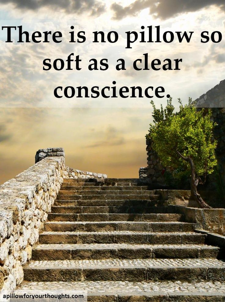 A Clear Conscience Is A Good Pillow Meaning