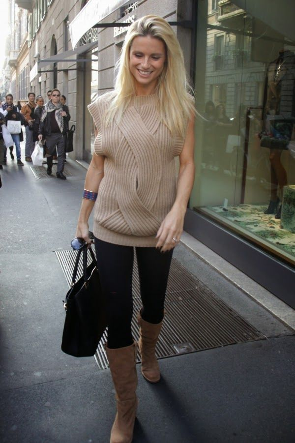 How To Chic Celebrity Style Michelle Hunziker Kleidung Trends Stricken